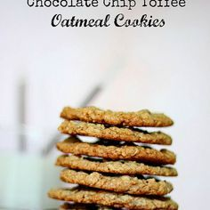 Chocolate Chip Toffee Oatmeal Cookies Recipe Desserts, Afternoon Tea with butter, light brown sugar, eggs, vanilla extract, all-purpose flour, baking soda, baking powder, ground cinnamon, salt, quick-cooking oats, semi-sweet chocolate morsels, toffee bits, sweetened coconut flakes