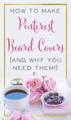 You want to get new followers on Pinterest, but sometimes you only have a few seconds to make an impression when someone stops by your Pinterest account. Board covers give a branded, unifed feel to your Pinterest and encourage people to click Follow. Make your Pinterest Boards stand out and get noticed!