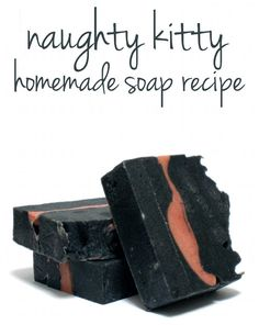 Naughty Kitty Homemade Cold Process Soap Recipe with Australian Midnight Black Clay