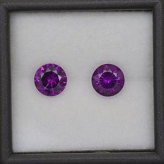 Gorgeous Grape Rhodolite Garnet Match Gemstone Pair from Mozambique 3.28 tcw.