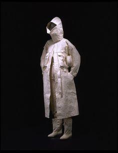 1983, Issey Miyake jacket. Joao paper, nylon and leather.