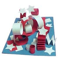 Make Paper Sculptures and let the creativity roll. This craft and many more cut and paste crafts on FreeKidsCrafts.com