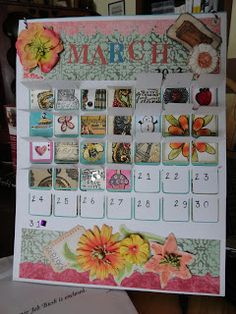 Runaway Crafting  Inchie art in advent style calendar