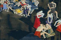 """""""The Return of Ulysses"""" (1913, carvão e aquarela no papel), do pintor londrino William Roberts, é parte da coleção da Tate Britain"""