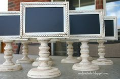 ONE Framed and Doublesided Chalkboard  - Weddings, Buffets, Parties, Craft Shows. $25.00 USD, via Etsy.
