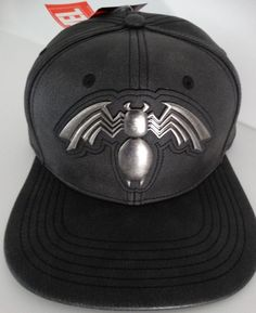 competitive price a40a7 425de Venom Leggs Metal Logo Distressed PU Marvel Snap Back Hat  Marvel   BaseballCap Snap Backs