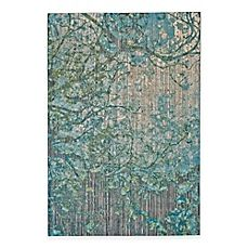 image of Feizy Keaton Branch Rug in Blue/Grey