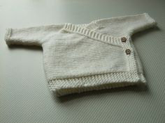 Baby Kimono - A sweet little cardi, this simple crossover front top is easy to