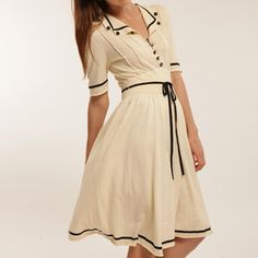 Organic Knitted Tea Dress White, 175€, now featured on Fab.