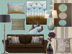 teal taupe living room tiffany blue and brown
