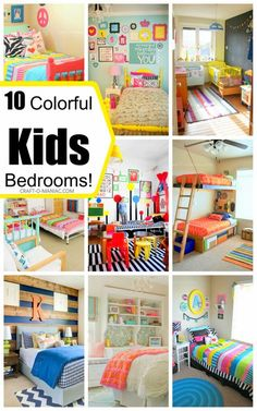 """Today's post is all about color! who here loves possibly """"adores"""" color? me! so today its about """"10 Colorful Kids Bedrooms"""". I tell you, everytime I try to decorate with just neutrals (which I so love and appreciate) I end up throwing in some color somewhere in the space. I just can't have it neutral …"""