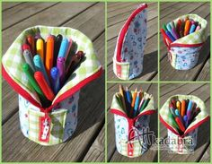 50 Sewing Projects to Use Up All Those Little Scraps of Fabric - Mimicrop Pencil Pouch, Pencil Bags, Sewing Hacks, Sewing Tutorials, Fabric Crafts, Sewing Crafts, Creation Couture, Sewing Projects For Beginners, Sewing For Kids