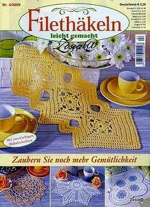 """Photo from album """"FiletHakeln on Yandex. Crochet Book Cover, Crochet Books, Crochet Home, Thread Crochet, Easy Crochet, Crochet Chart, Filet Crochet, Knit Crochet, Crochet Patterns"""