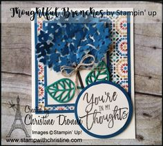 Thoughtful Branches - Bundle, Stampin' Up! Image C, Branches, Stampin Up, Thoughts, Create, Cards, Decor, Decoration, Stamping Up