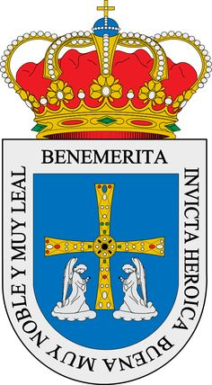Escudo de Oviedo - España. Oviedo (en asturiano Uviéu), es una ciudad y capital (según el Estatuto de Autonomía del Principado de Asturias) del Principado de Asturias, España.5 Su origen se remonta a la Alta Edad Media (siglo VIII), o incluso antes.6 Asimismo es un concejo asturiano cuya capital es la ciudad del mismo nombre, Oviedo, y una parroquia de dicho concejo, que comprende a Oviedo capital.