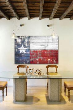 Texas White Wood Wall Art