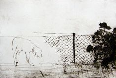 Catherine Macdonald, In between it all, drypoint on aluminium (250 x 370), from an edition of 10, 2012. NZ$450 incl GST framed; NZ$320  incl GST unframed.