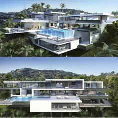 Sustainable architecture big modern houses, modern house plans l… Sims 4 Modern House, Big Modern Houses, Modern House Floor Plans, Modern Mansion, Big Houses With Pools, Model Architecture, Modern Architecture House, Sustainable Architecture, Architecture Facts