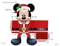 Blog Paper Toy papercraft Boite Cadeau Mickey template preview Boîte Cadeau Mickey en papercraft