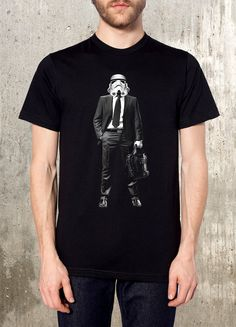 Storm Trooper on the Job Hunt - Men's T-Shirt- American Apparel - Available in S, M, L, XL and XXL