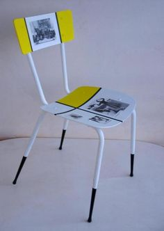 Recycled chair Sofia Loren in furniture  with Upcycled Recycled Polish Furniture Ecofriendly design Decoupage Chair