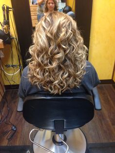 Long, curly hair :) My hair was like that on Oct.26 for a wedding!!!!!!!