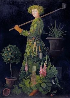 The Gardener, 2002 Poster Art Print by Lizzie Riches