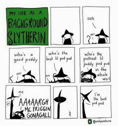 Tagged with funny, comic, harry potter, slytherin; She kinda slythers into your heart. Harry Potter Comics, Harry Potter Jokes, Harry Potter Fandom, Harry Potter World, Harry Potter Anime, Dumbledore Comics, Meme Comics, Ridiculous Harry Potter, Memes Humor