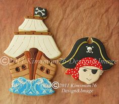 Boy Pirate Cookies ~ these are gorgeous