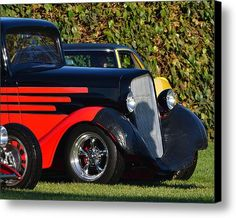 Red And Black Hotrod Canvas Print / Canvas Art By Dean Ferreira