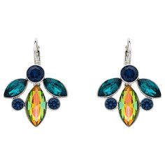 Buy Monet Rhodium Plated Glass Crystals Leverback Earrings, Silver Online at johnlewis.com