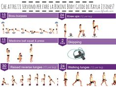 cosa serve per fare la bikini body guide kayla itsines attrezzi