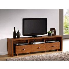 """Techni Mobili Palma TV Stand with 3 Drawers, for TVs up to 70"""", Multiple Finishes - Walmart.com"""