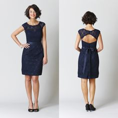 Or this one... Wholesale Bridesmaid Dresses - Buy Cheap Under $100 Maid of Honor 2015 Bridesmaid Dresses Sexy Formal Prom Dress Short Knee Length Backless Lace Gowns Dark Navy Royal Blue, $72.26 | DHgate
