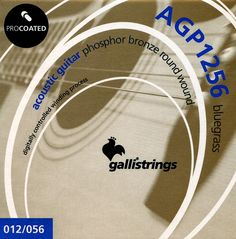 AGP 1256  Bluegrass .012-.016-.025-.035-.045-.056         ProCoated Phosphor Bronze It's our passion for strings, lasting for generation, together with the best technology available, which makes Galli ProCoated strings the most outstanding product in our catalogue.