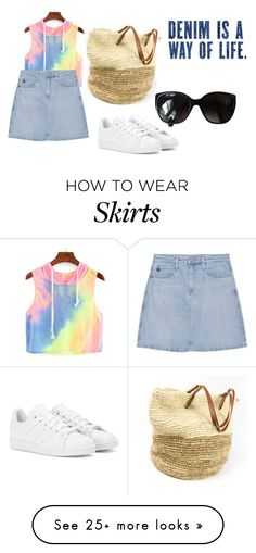 """Tie Dye and denim skirt..."" by shycoygirl65 on Polyvore featuring AG Adriano Goldschmied, adidas and Chanel"