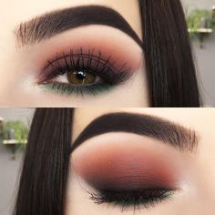 Make-up Abend Make-up Maquillage - maquillage naturelle - maquillage tutoriel - maquillage mariage M Matte Eye Makeup, Elf Makeup, Hooded Eye Makeup, Prom Makeup, Skin Makeup, Makeup Brushes, Makeup Remover, Makeup Eyeshadow, Orange Eyeshadow