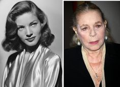 Old Hollywood Stars, Vintage Hollywood, Classic Hollywood, Then And Now Photos, Stars Then And Now, Bogie And Bacall, Celebrities Then And Now, Young Old, Humphrey Bogart