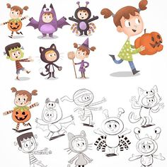 Some character designs I did at A Productions for UK children's channel TinyPop…