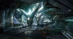 Sci Fi Art Tae Young Choi Area 51 Generator Room Scifi Wallpaper