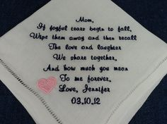Gift for Mother of the Bride Wedding by InspiredStitches on Etsy, $24.50