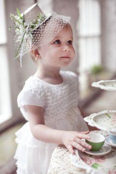 Elegantly dressed for tea.