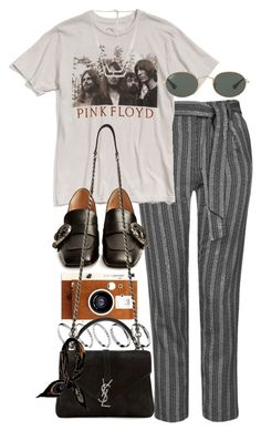 """Untitled #10407"" by nikka-phillips ❤ liked on Polyvore featuring Topshop, Chaser, ASOS, Gucci, LØMO, Ray-Ban, Yves Saint Laurent, Hermès and Forever 21"