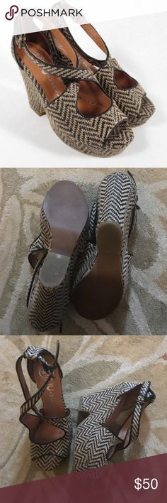 JEFFREY CAMPBELL: randy fab wedge heels size 7.5! in excellent used condition Jeffrey Campbell Shoes Wedges