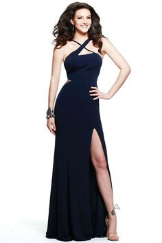 97e7c942f74 Faviana - 7539 Criss Cross Jersey Evening Dress in Blue  stunningdresses  Jovani Dresses