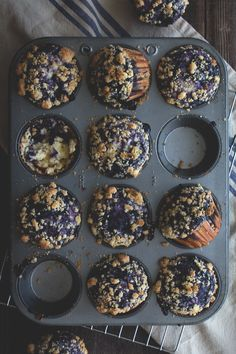 Blueberry Swirl Muffins - Vertical Food
