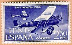 Sello Ifni de 2,50  pesetas, Pro Infancia, 1966 - Porltal Fuenterrebollo