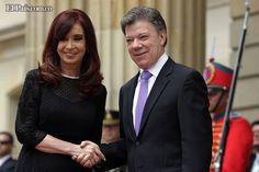 Gobiernos de Argentina y Colombia firmaron un tratado de extradición El presidente Juan Manuel Santos y la presidenta Cristina Fernández de Kirchner se reunieron este jueves en la Casa de Nariño. Kirchner mostró también su respaldo al proceso de paz.