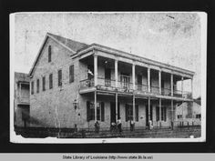 Carel Wolff dry goods and clothing store in Washington Louisiana in late 1800s