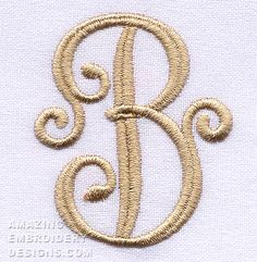 Amazing Embroidery Designs has posted this free embroidery design. It's the letter B.